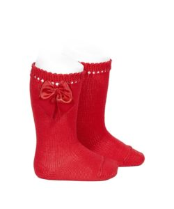 perle-knee-high-socks-with-bow-red