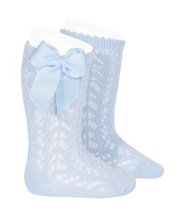 perle-openwork-knee-high-socks-baby-blue