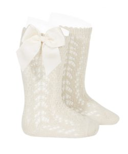 perle-openwork-knee-high-socks-linen