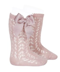 perle-openwork-knee-high-socks-pale-pink