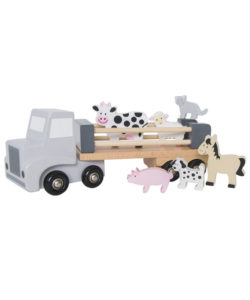 Animal farm trailer - wooden toy